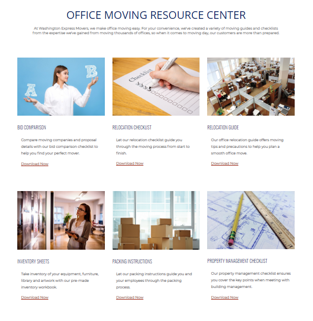 Office Moving Resource Request